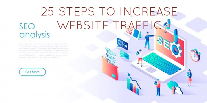 25 STEPS TO INCREASE WEBSITE TRAFFIC