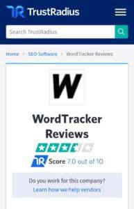 Trustradius Reviews on WORDTRACKER