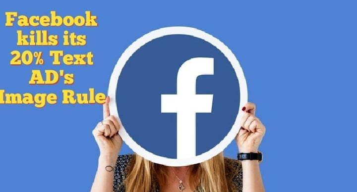 Facebook 20% image rule gone