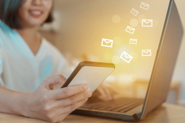 Personal email marketing message