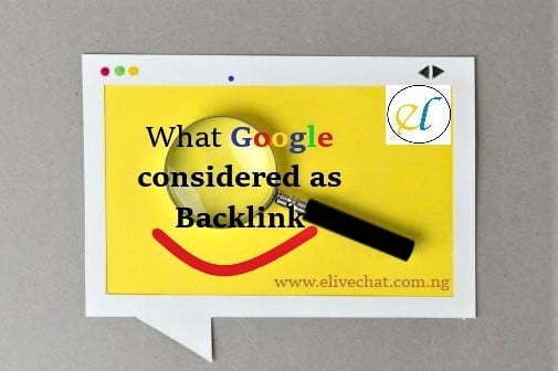 what Googleconsidered ab backlink