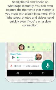 Voice call on WhatsApp