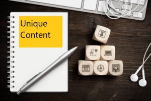 Meaning of unique content