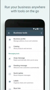 WhatsApp business tools