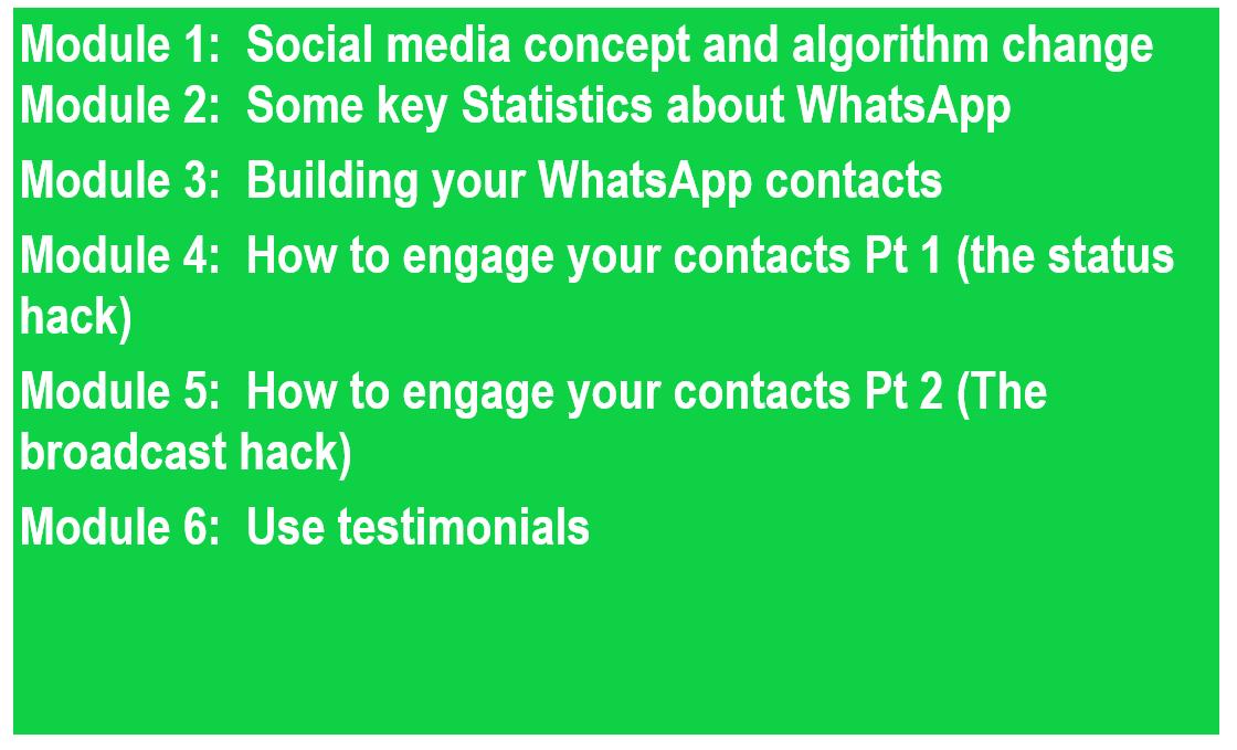 WhatsApp marketing modules