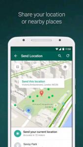 WhatsApp location feature